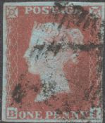 1852 1d Red SG8 Plate 138 'BJ'